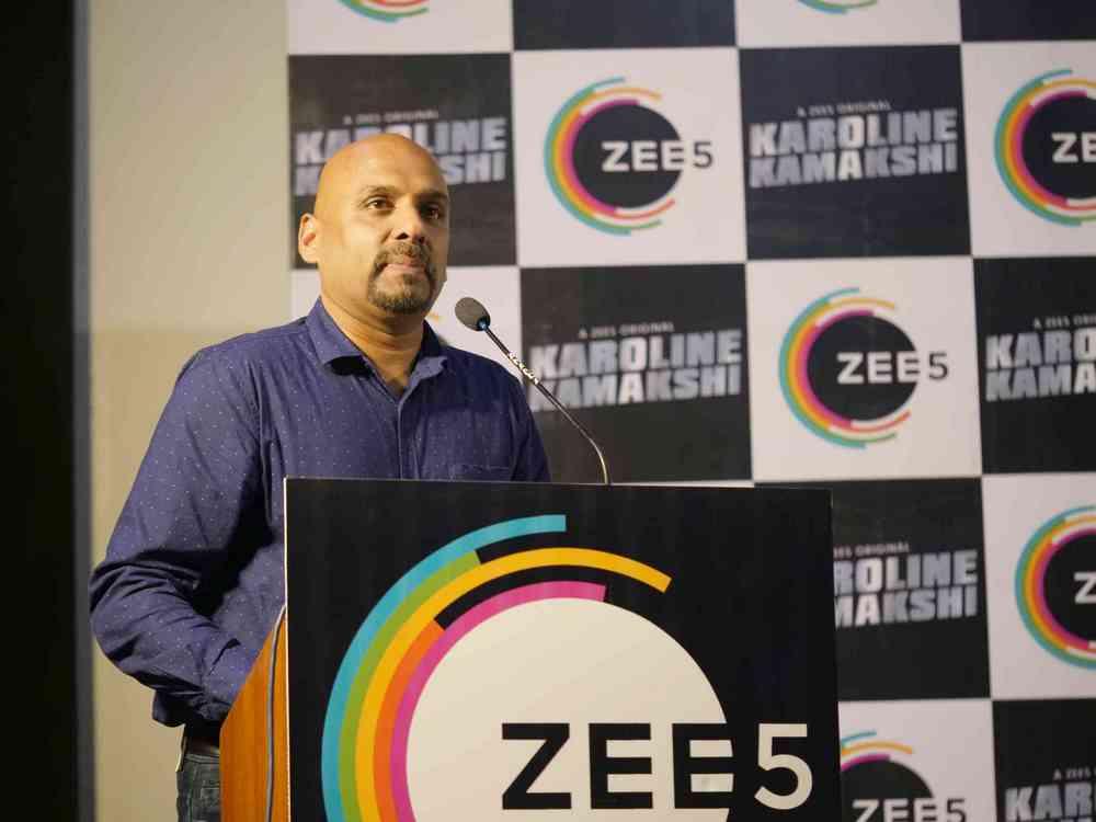 Zee 5 Premieres Original Series Karoline Kamakshi Pressmeet (12)