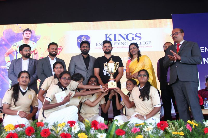 Suresh Raina inaugurated Cricket Academy in Kings Engineering College Photos