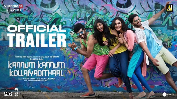 Kannum Kannum Kollaiyadithaal Official Trailer