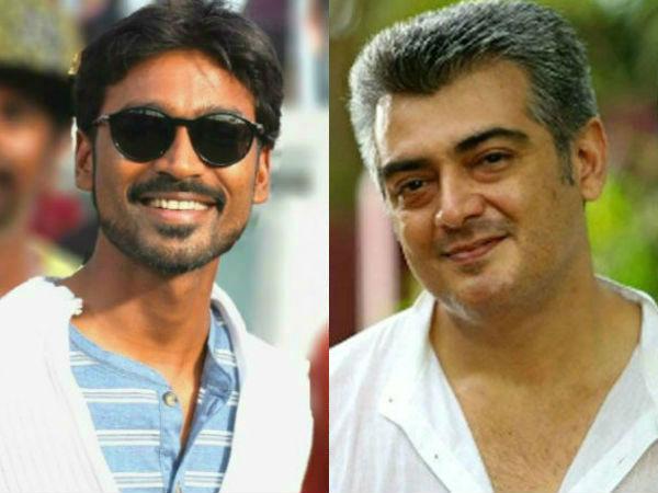 Dhanush and Ajith