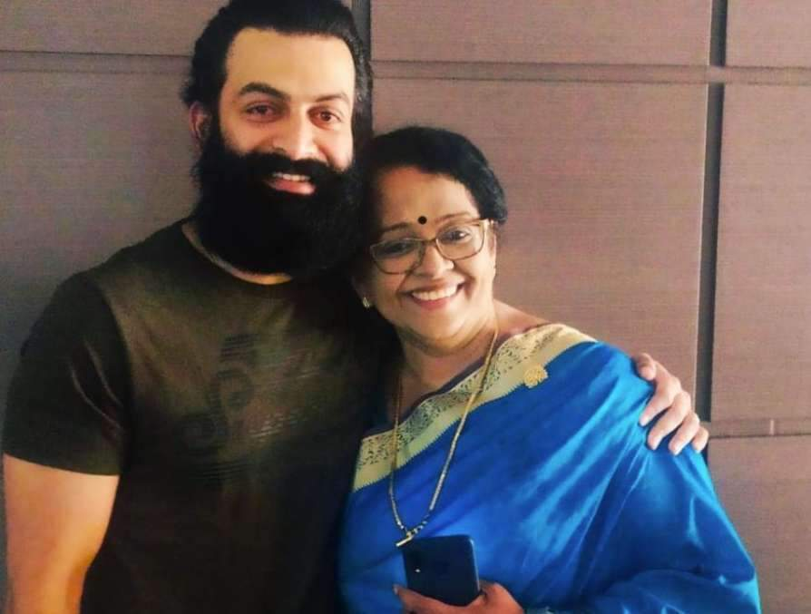 prithviraj and mother