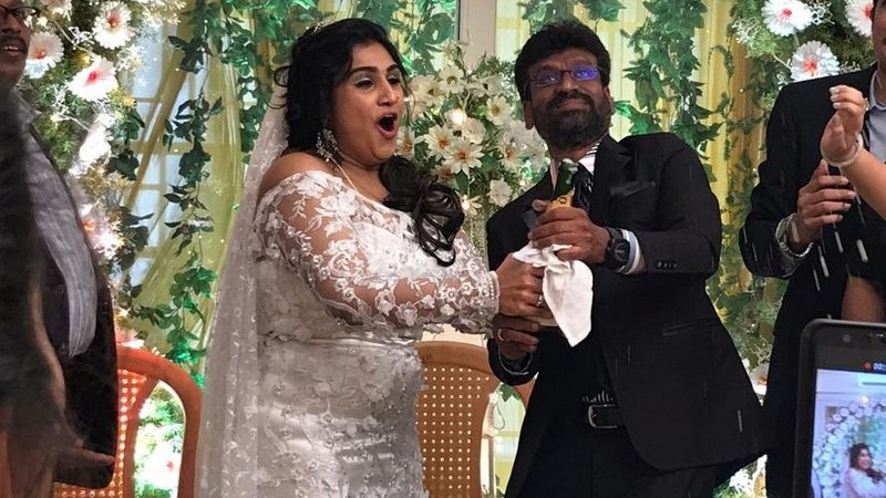 Vanitha Vijayakumar and Peter Paul Marriage Photos