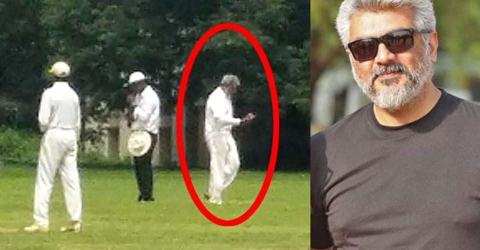 Thala Ajith Playing Cricket :