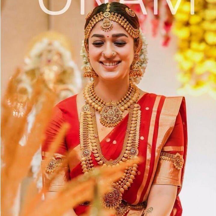 Actress Nayanthara in bridal gown