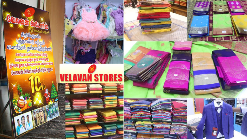 Christmas, New Year and Pongal discount sales started at Velavan Stores - Extra 10% off for these only!