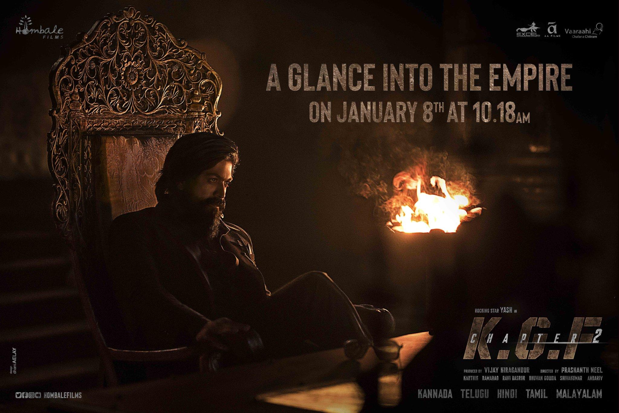 KGF Chapter 2 Teaser On Jan 8th