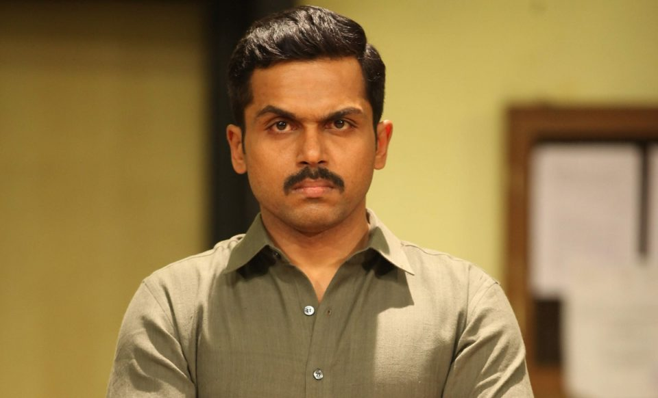 Karthi rallied in support of the farmers