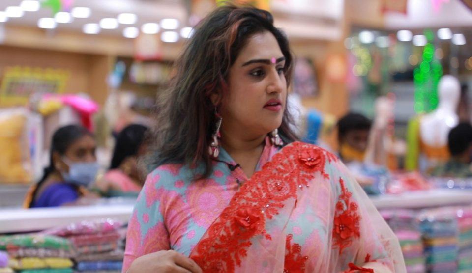 Vanitha wonders after shopping at Velavan Stores!