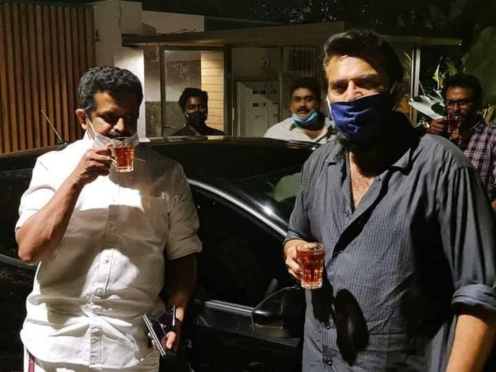 mammootty comes out of his house after 275 days