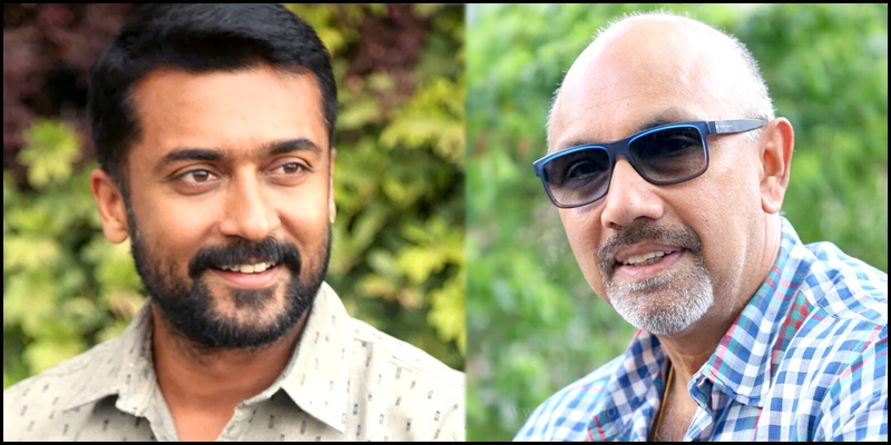 Sathyaraj who teamed up with Suriya for the first time
