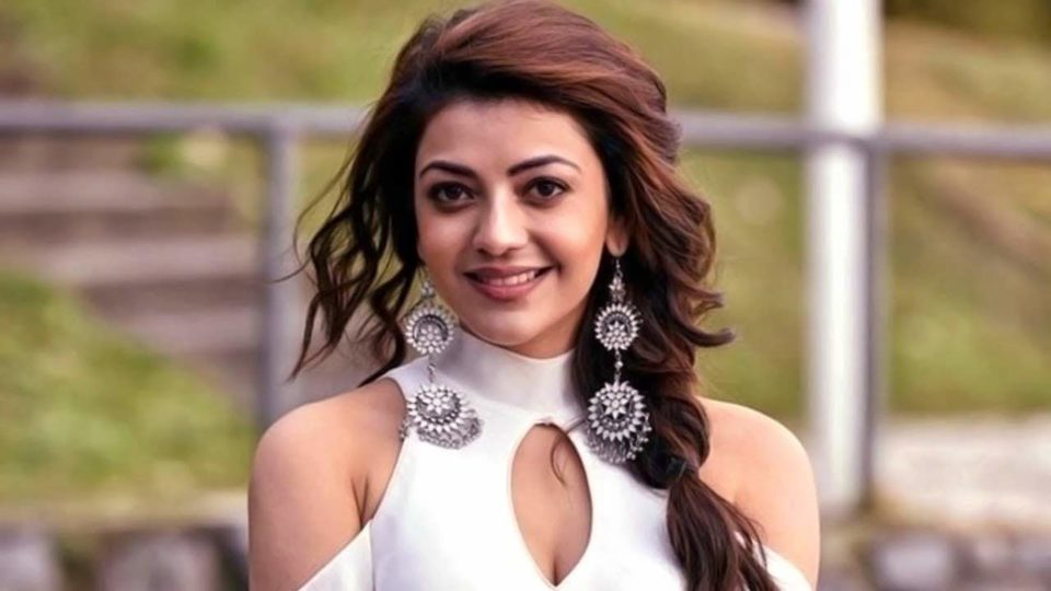 Husband in the middle of two Kajal
