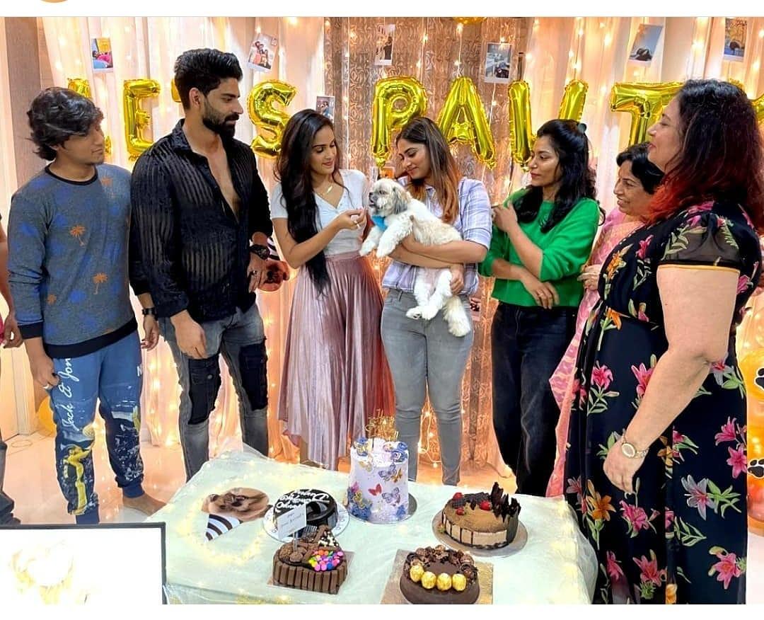 Shivani dog's first birthday celebration