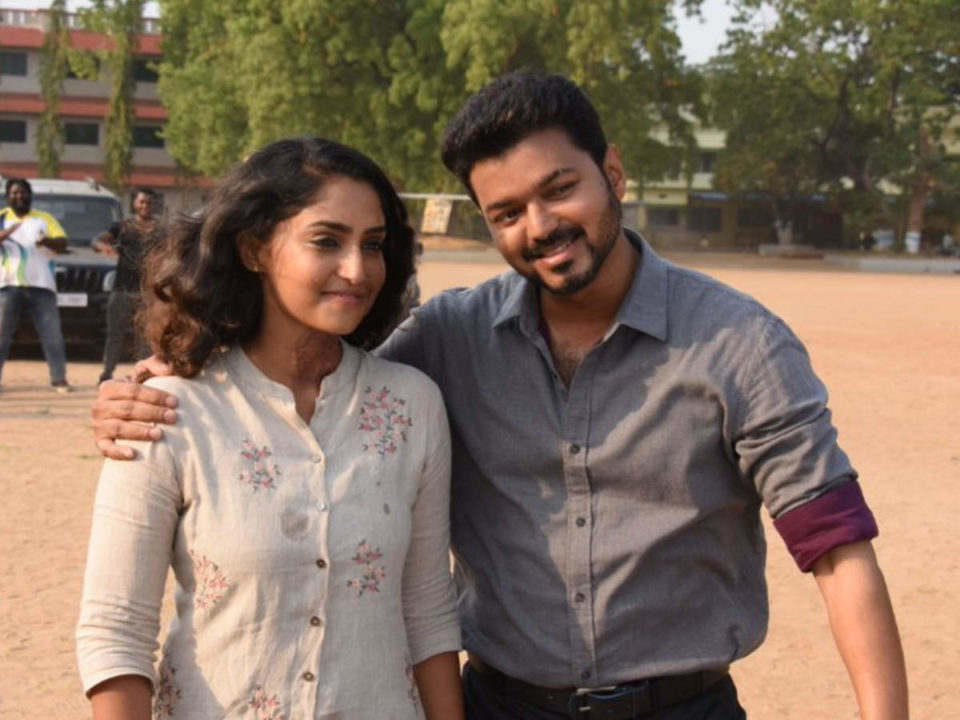 Valentine who gave a surprise to the Bigil actress on her birthday