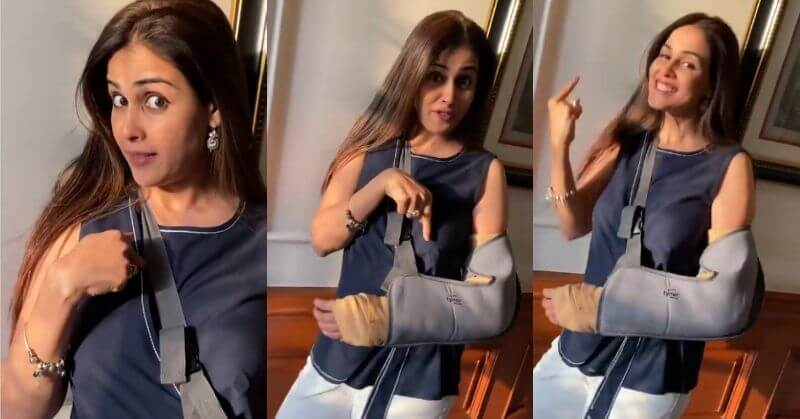 Genelia D'Souza gets injured broken arm