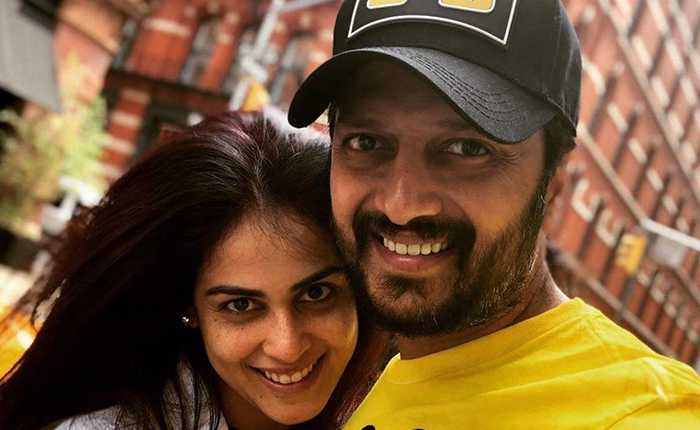 The husband who kissed the actress in front of his wife .... Genelia bought bleach