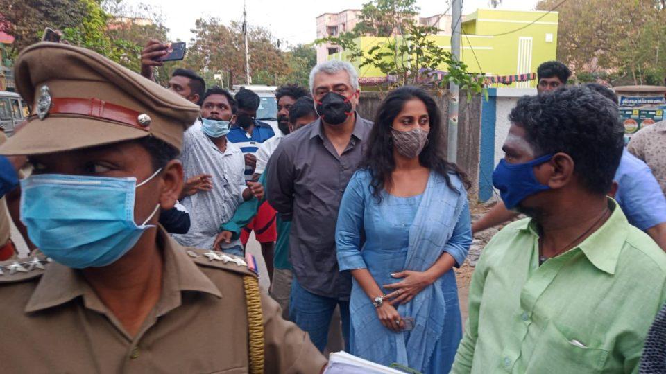 Thala Ajith voted Tamil Nadu Elections 2021
