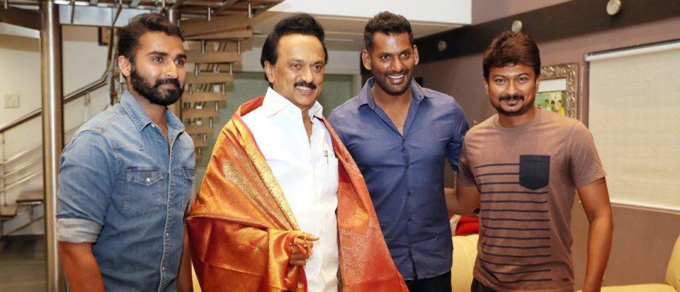 Actor Vishal wishes DMK leader MK Stalin and Udhayanidhi stalin