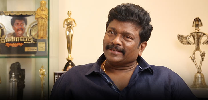 Parthiban responded to the fan in his own style