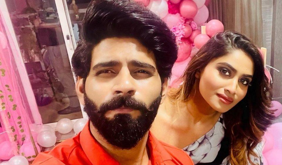 Shivani celebrating her birthday with Bala