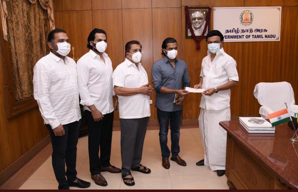 Suriya, Sivakumar and Karthi donate Rs 1 crore to Tamil Nadu Chief Minister's Public Relief fund