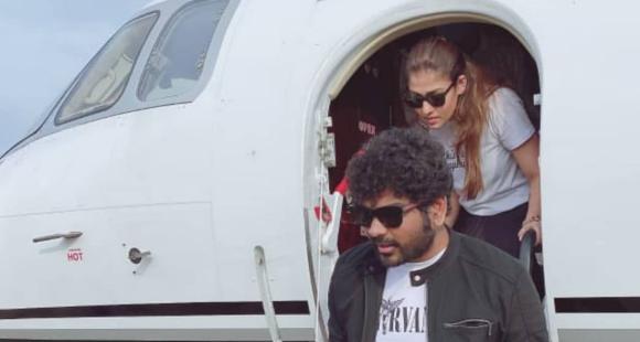 Vignesh Shivan flies in Nayanthara's private plane