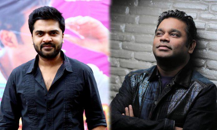 ar rahman has completed 2 songs for the Simbu film