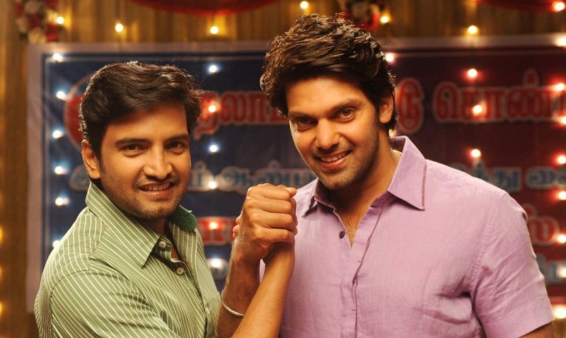 arya to support to santhanam