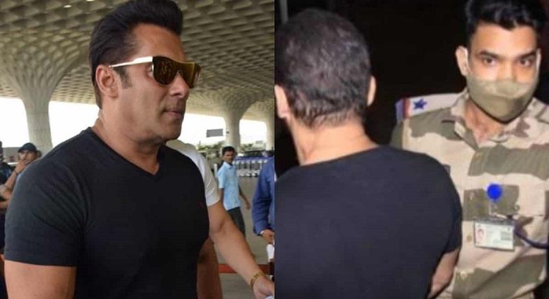 CISF official stops Salman Khan outside the Mumbai airport