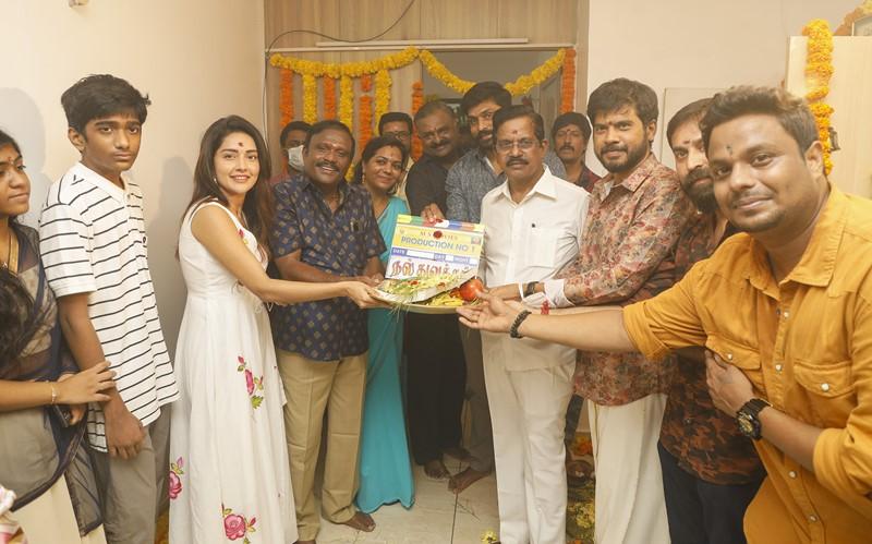 Prabhu Deva and Mahima Nambiar New Movie Pooja Stills