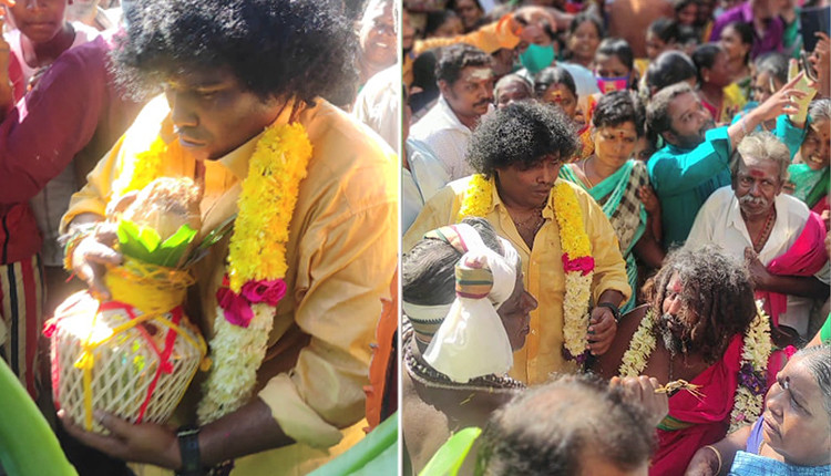 Yogi Babu built the temple and performed Kumbabishekam