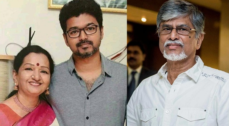 Did Vijay make his mother Shoba stand in the doorway Father Description