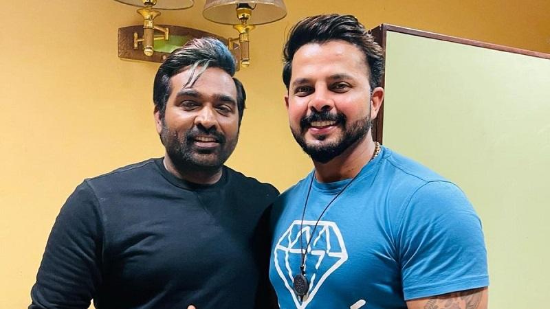Vijay Sethupathi meets cricketer Sreesanth