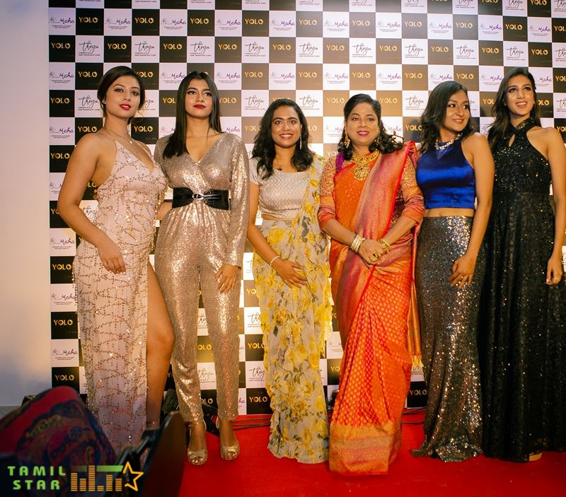 RJ Balaji, Sayyeshaa, Yashika Anand, and Athulya at Yolo Salon Launch (6)