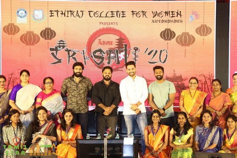 Vaanam Kottattum Team at Ethiraj College Photos (11)